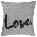 Signature Design by Ashley Pillows Mattia White/Black Pillow - Item Number: A1000819P