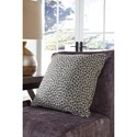 Signature Design by Ashley Pillows Indoor/Outdoor Piercy Gray Pillow in Cheetah Print