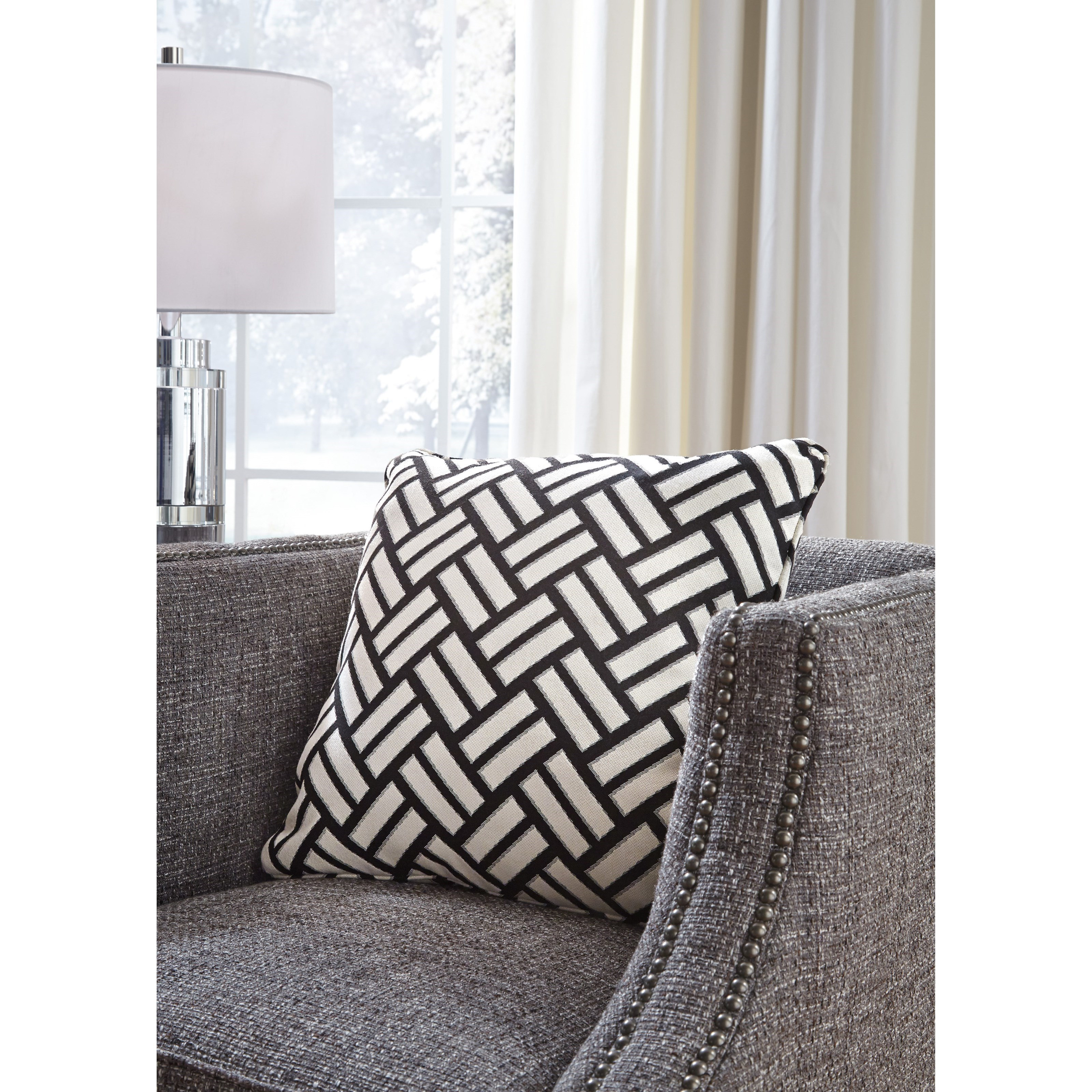 Signature Design By Ashley Pillows Ayres Black/White