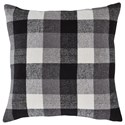 Signature Design by Ashley Pillows Carrigan Charcoal/White Pillow - Item Number: A1000852P