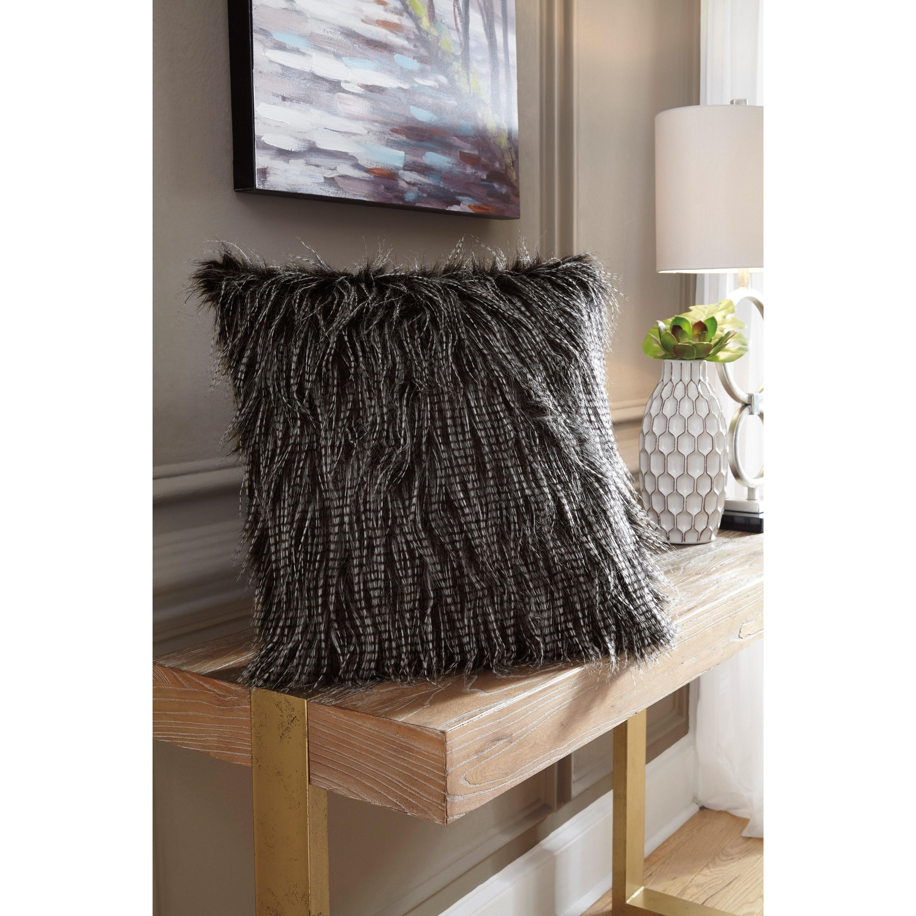 Signature Design By Ashley Pillows Ryley Black Pillow