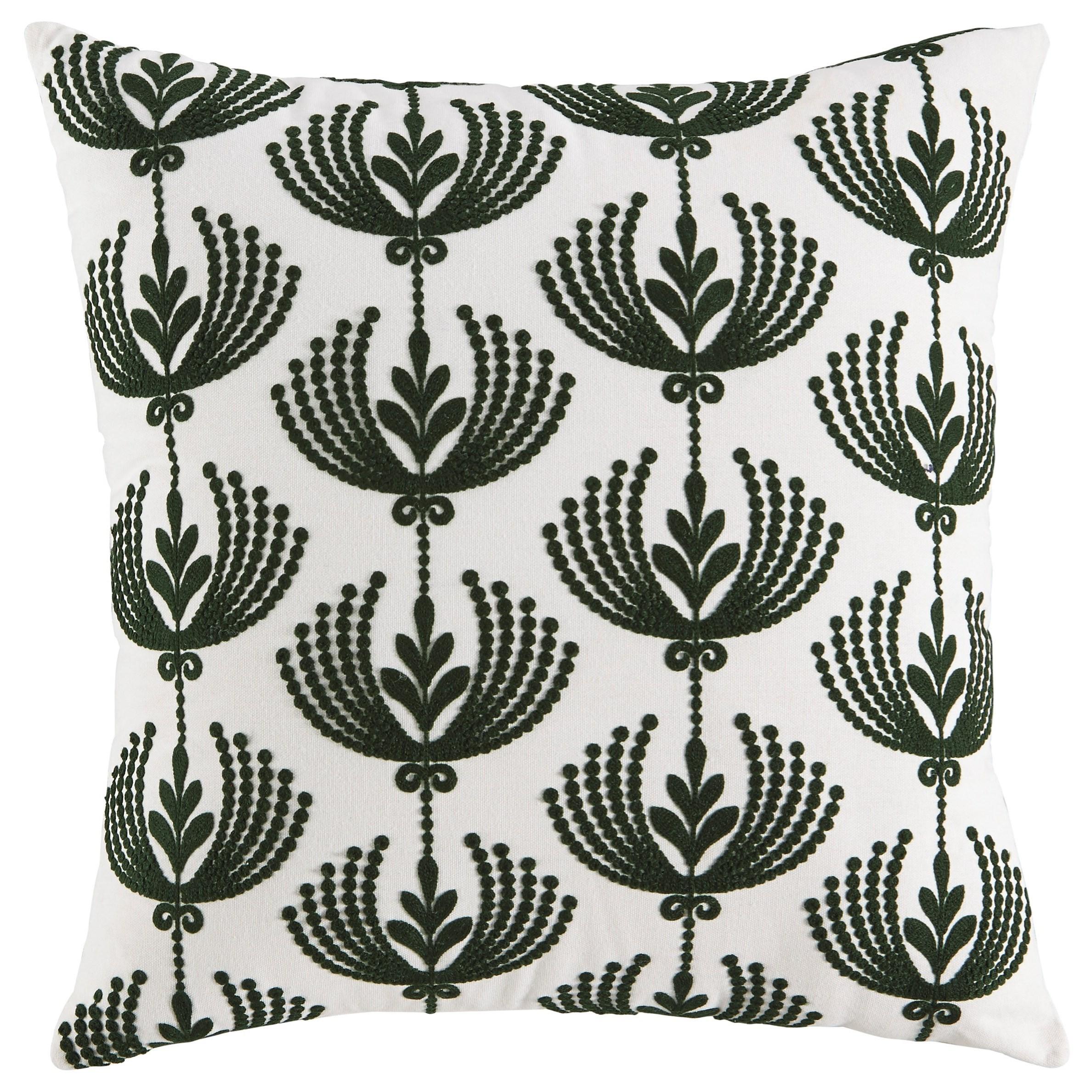 Dowden Cream/Emerald Pillow