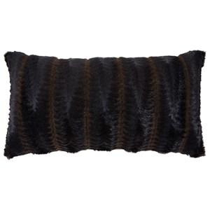 Elvena Brown/Black Faux Fur Pillow