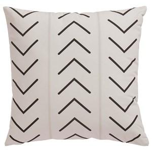 Kallan White/Black Pillow