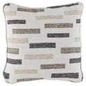 Signature Design by Ashley Pillows Crockett Black/Brown/Cream Pillow - Back of Pillow