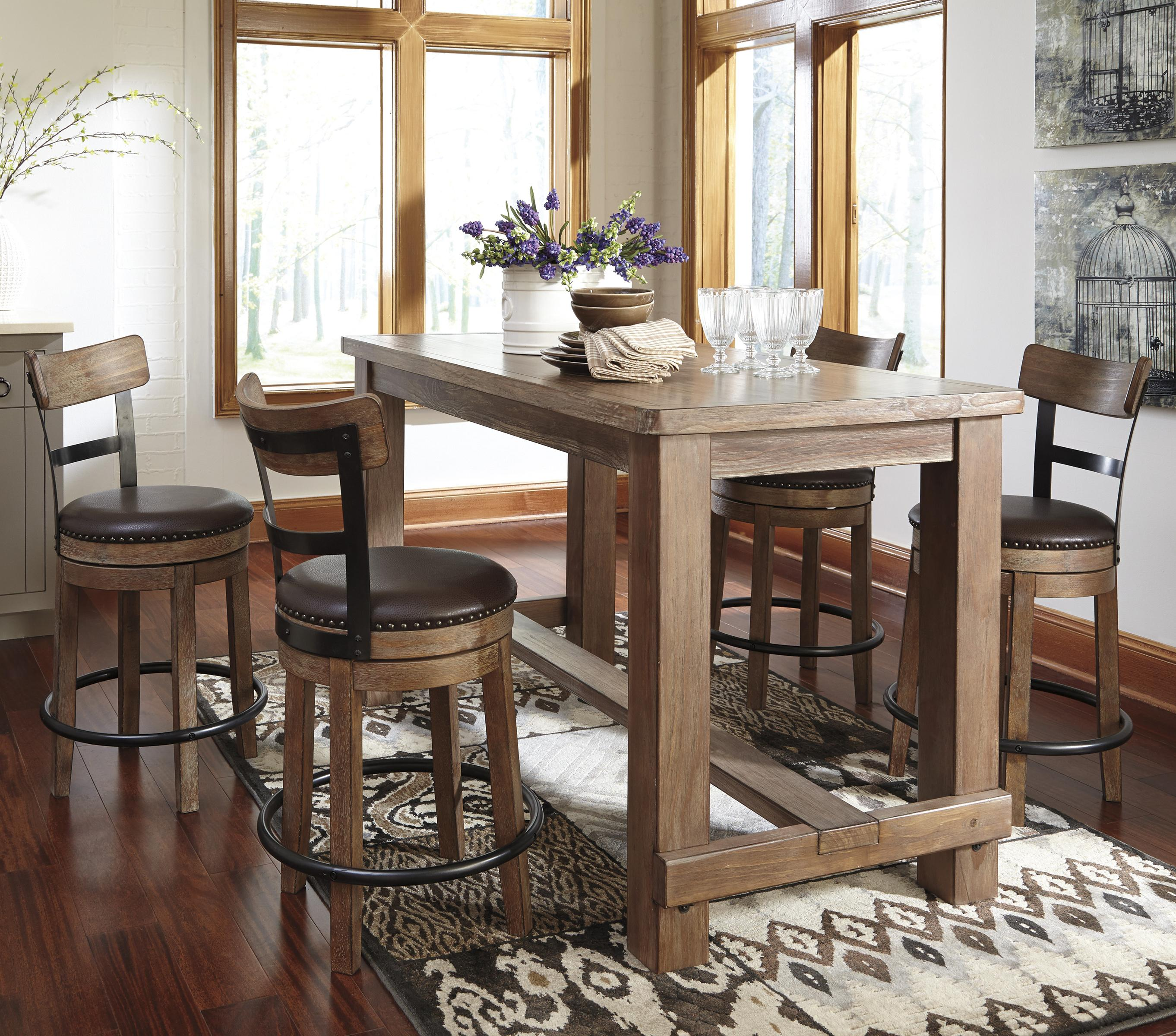 Ashley Furniture Dinette Set: Signature Design By Ashley Pinnadel 5-Piece Counter Table