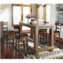Signature Design by Ashley Pryde 5-Piece Counter Table Set - Item Number: D542-13+4x124