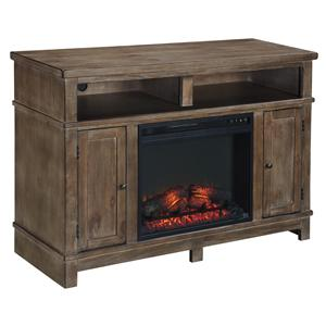 Ashley (Signature Design) Pinnadel Medium TV Stand with Fireplace Insert
