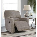 Signature Design by Ashley Pittsfield Swivel Glider Recliner with 360 Degree Swivel & Rounded Track Arms