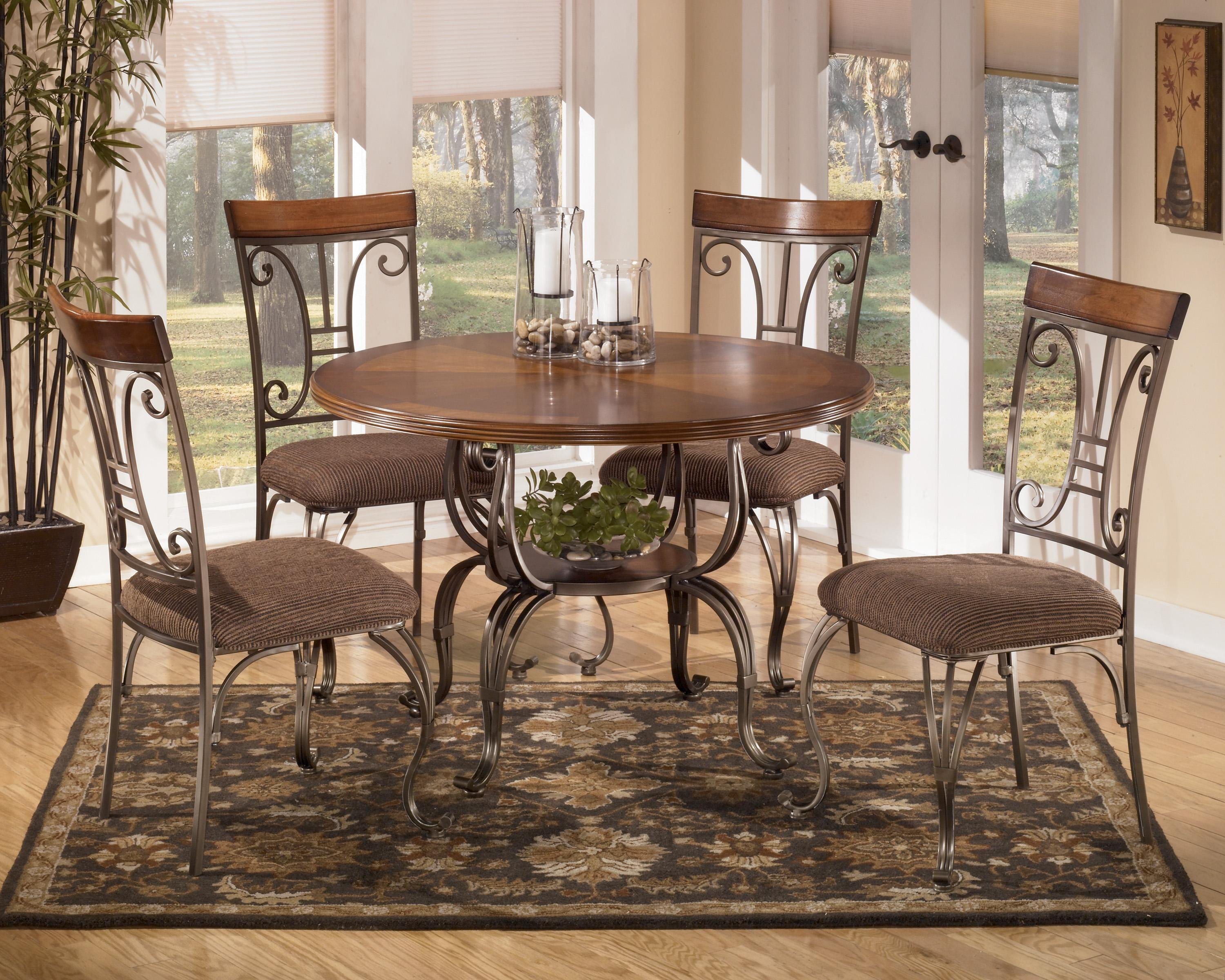 Signature Design by Ashley Plentywood 5-Piece Round Dining Table Set - AHFA - Dining 5 Piece Set Dealer Locator & Signature Design by Ashley Plentywood 5-Piece Round Dining Table Set ...