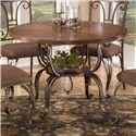 Signature Design by Ashley Plentywood Round Dining Table - Item Number: D313-15B+T