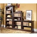 Signature Design by Ashley Porter Large Bookcase with 5 Adjustable Shelves - Shown with Medium and Small Bookcase