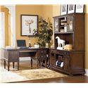Signature Design by Ashley Porter L-Shape Desk with Large Storage Leg Desk - Item Number: H697-26+47+46+49