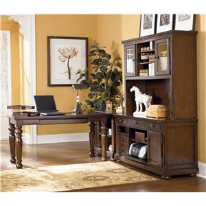 Signature Design by Ashley Porter L-Shape Desk w/ Large Leg Desk & Large Hutch