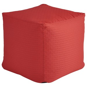 Signature Design by Ashley Poufs Sylas Red Pouf