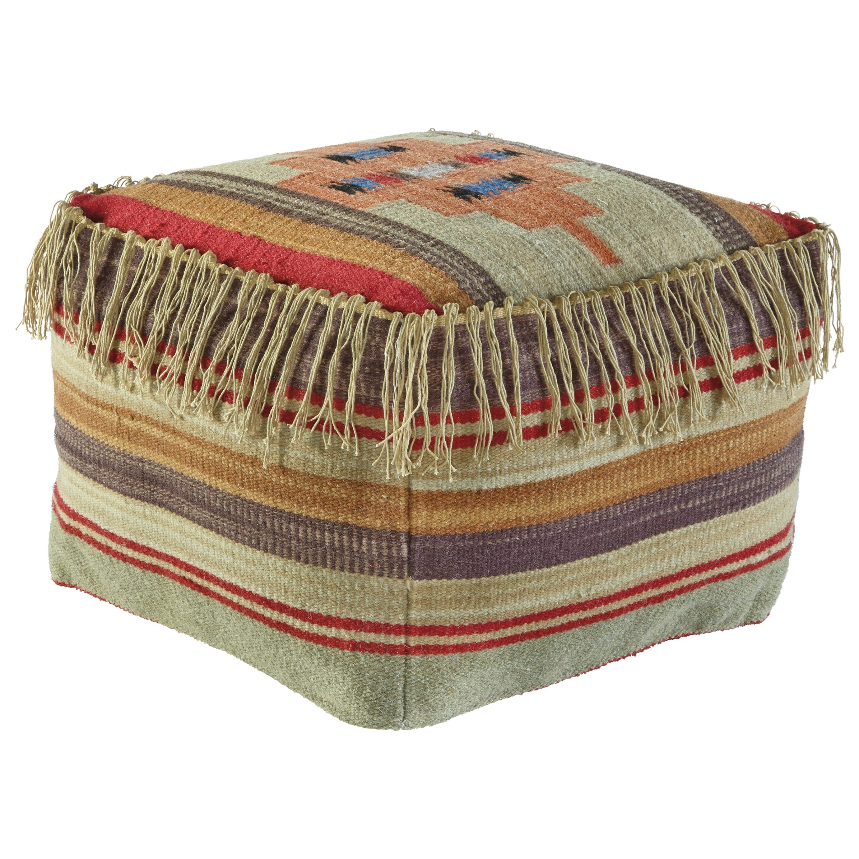 Signature Design by Ashley Poufs Bentlee - Multi Pouf - Item Number: A1000282