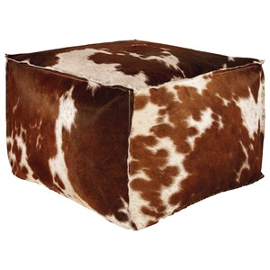 Signature Design by Ashley Poufs Tegan Hair on Hide Pouf