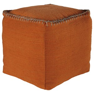 Signature Design by Ashley Poufs Caius - Rust Pouf