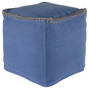 Signature Design by Ashley Poufs Caius - Perwinkle Pouf