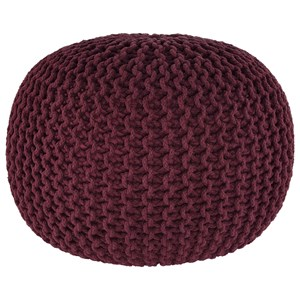 Signature Design by Ashley Poufs Nils - Maroon Pouf