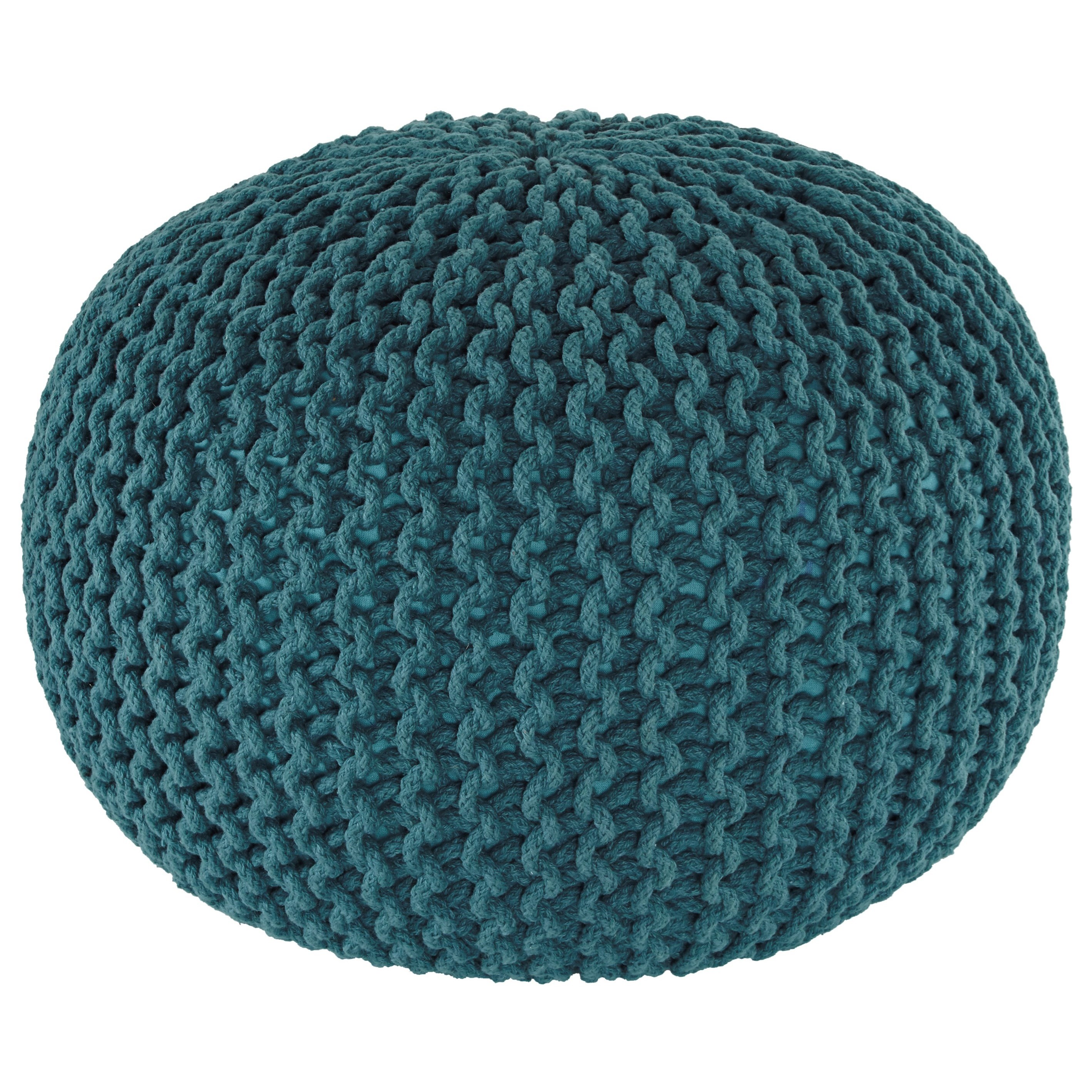 Signature design by ashley poufs a1000373 nils teal pouf northeast factory direct poufs - Design pouf ...