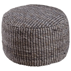 Signature Design by Ashley Poufs Achiles - Natural Pouf