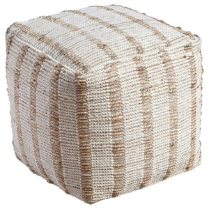 Signature Design by Ashley Poufs Damir - Natural Pouf