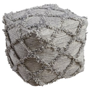 Signature Design by Ashley Poufs Adelphie - Natural/Gray Pouf