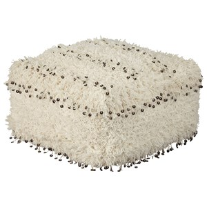Signature Design by Ashley Poufs Celeste Oatmeal Pouf