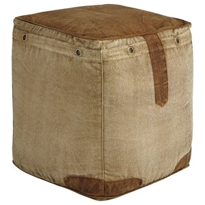 Cinnamon Natural Pouf