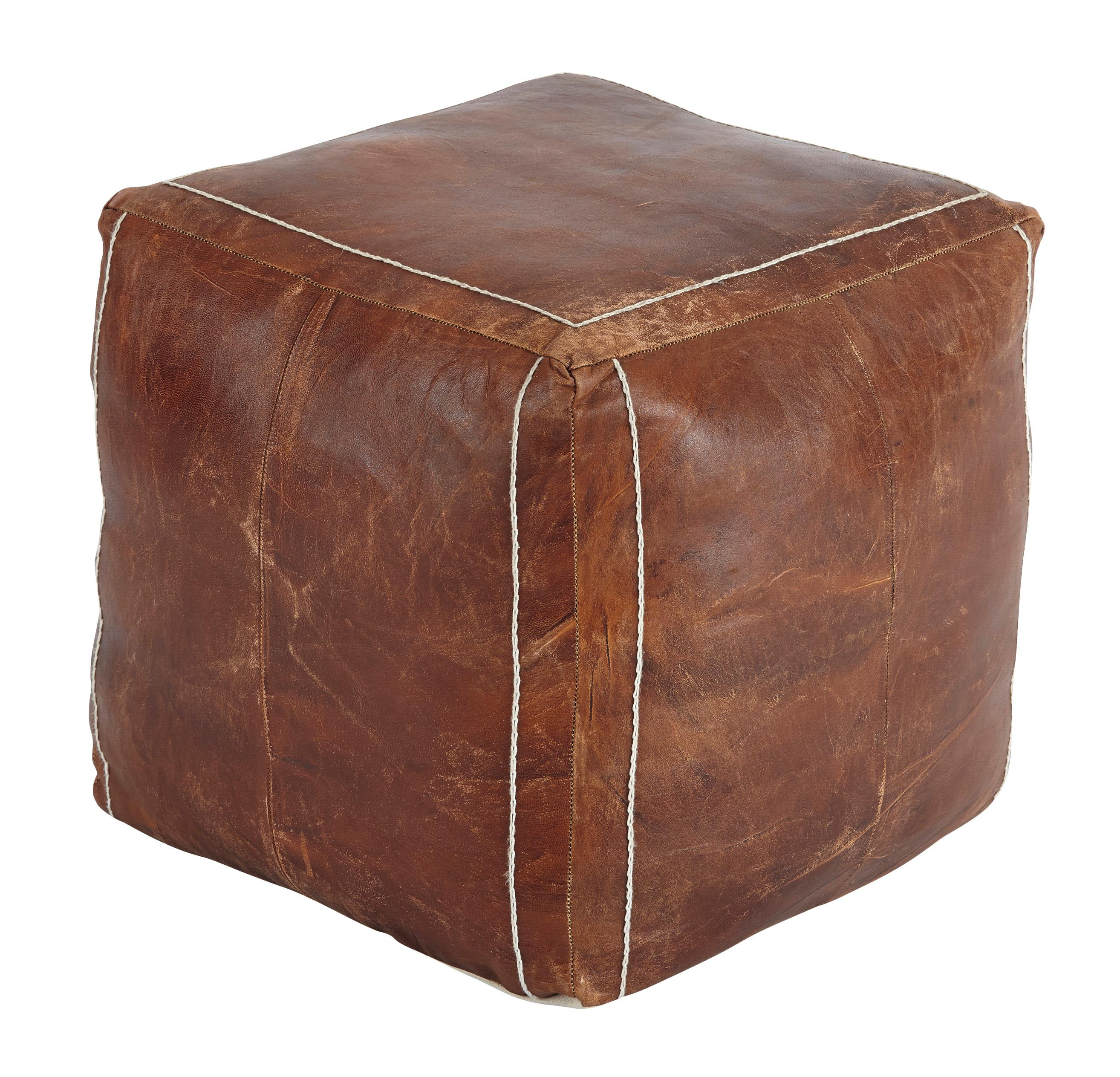 Signature Design by Ashley Poufs Vintage - Brown Pouf - Item Number: A1000417