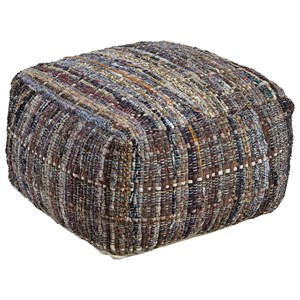 Signature Design by Ashley Poufs Ameya - Khaki Pouf