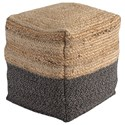 Signature Design by Ashley Poufs Sweed Valley - Natural/Black Pouf - Item Number: A1000422