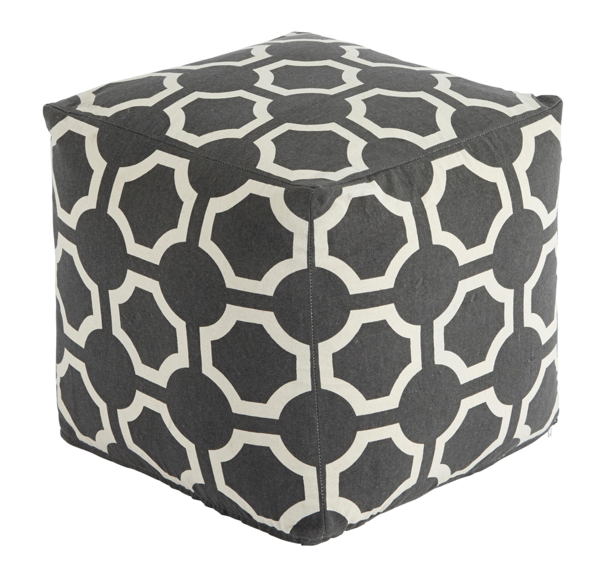 Signature Design by Ashley Poufs Geometric - Gray Pouf - Item Number: A1000424
