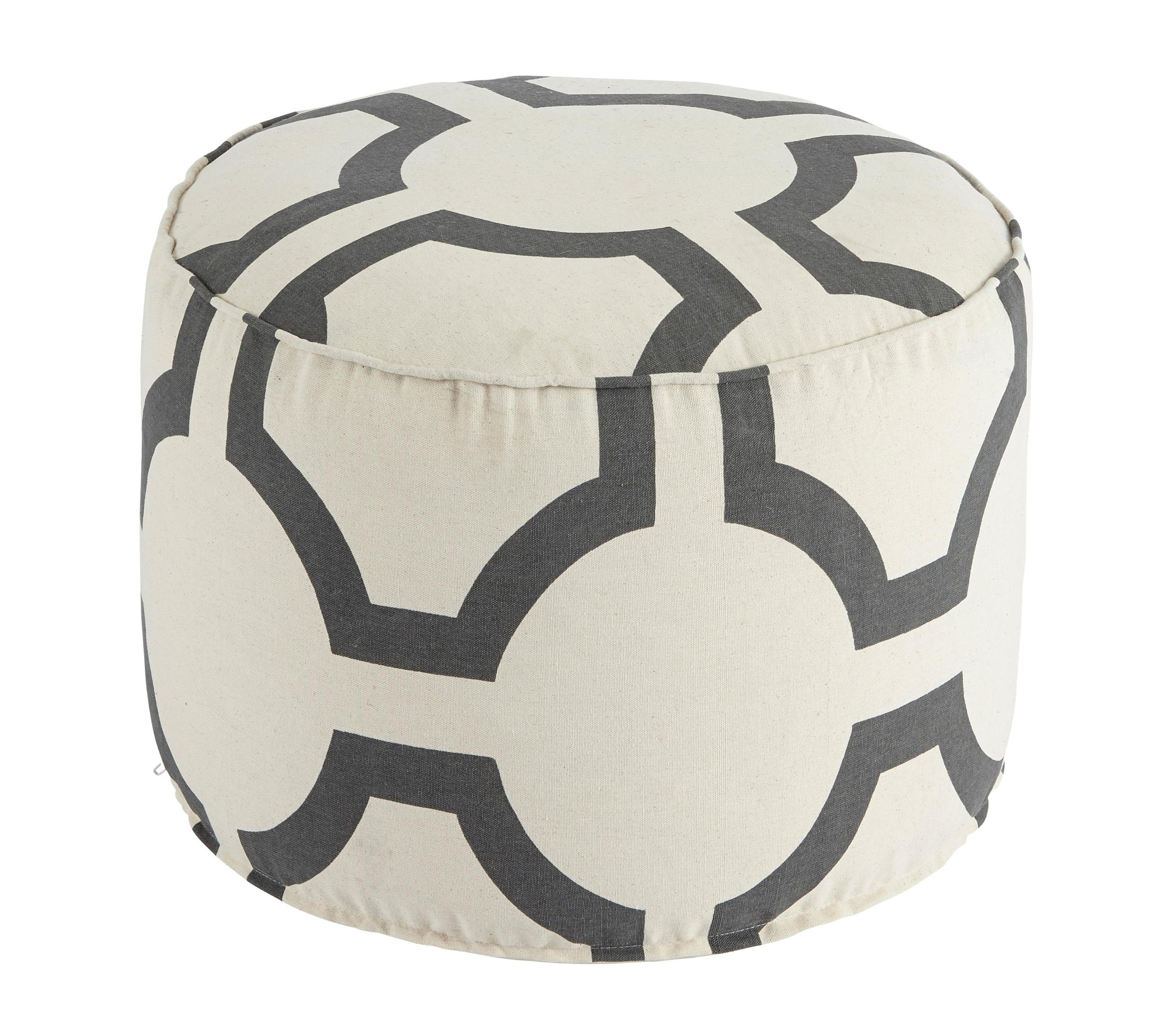 Signature Design by Ashley Poufs Geometric - Charcoal Pouf - Item Number: A1000425
