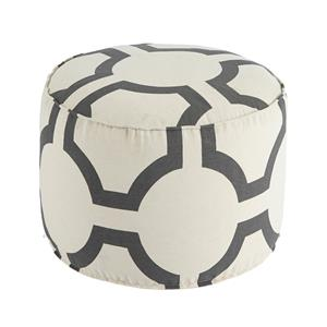 Signature Design by Ashley Poufs Geometric - Charcoal Pouf