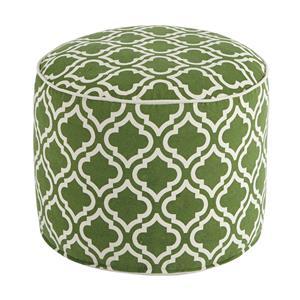 Signature Design by Ashley Poufs Geometric - Green/White Pouf