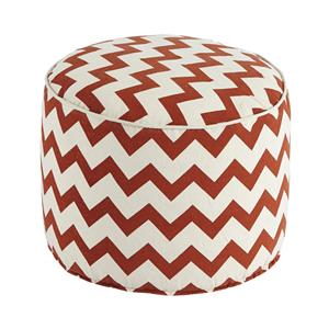 Signature Design by Ashley Poufs Chevron - Beige/Rust Pouf