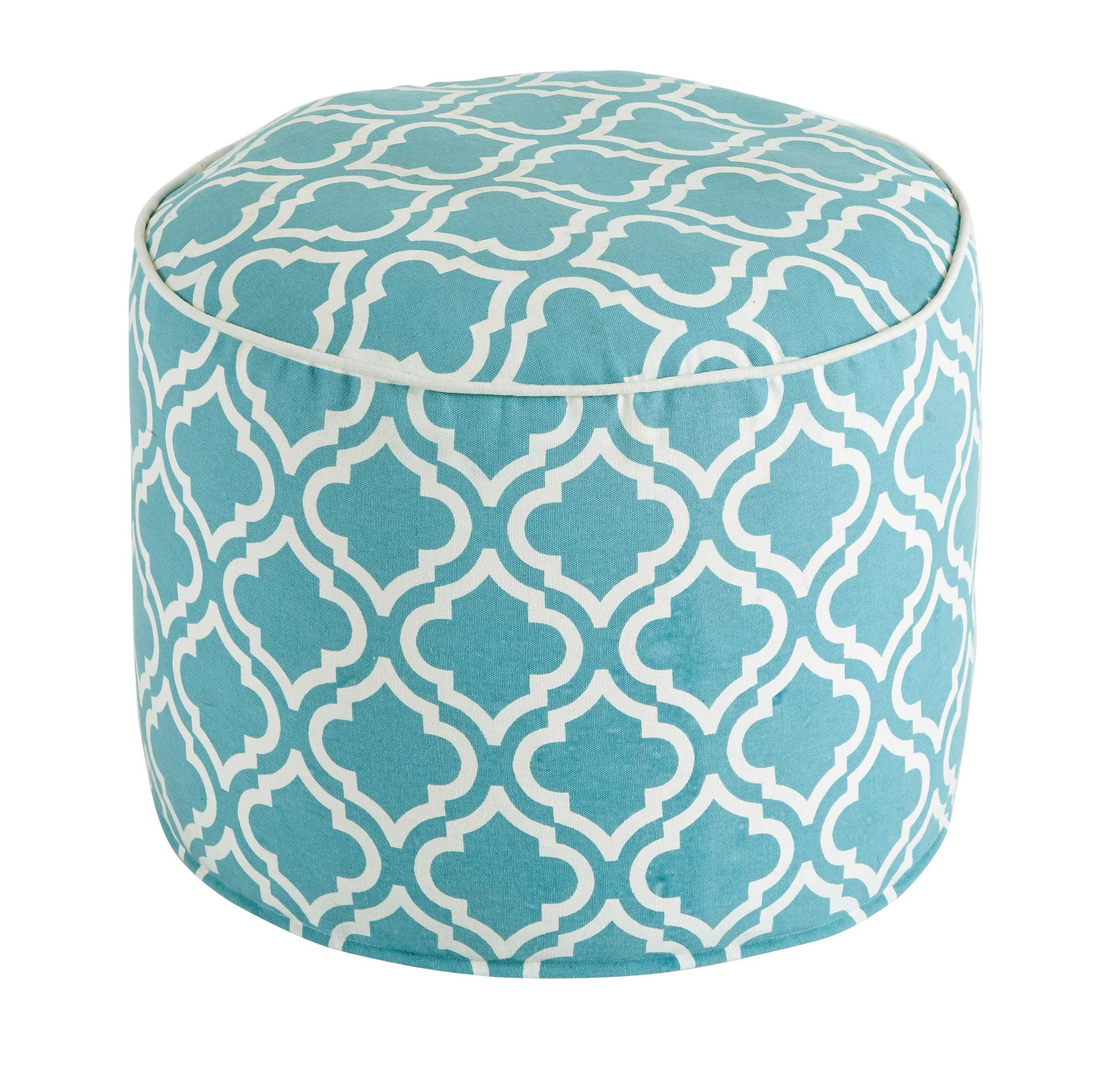 Signature Design by Ashley Poufs Geometric - Turquoise Pouf - Item Number: A1000428
