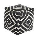 Signature Design by Ashley Poufs Geometric - Black Pouf - Item Number: A1000429