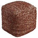 Signature Design by Ashley Poufs Darita - Brown Pouf - Item Number: A1000430
