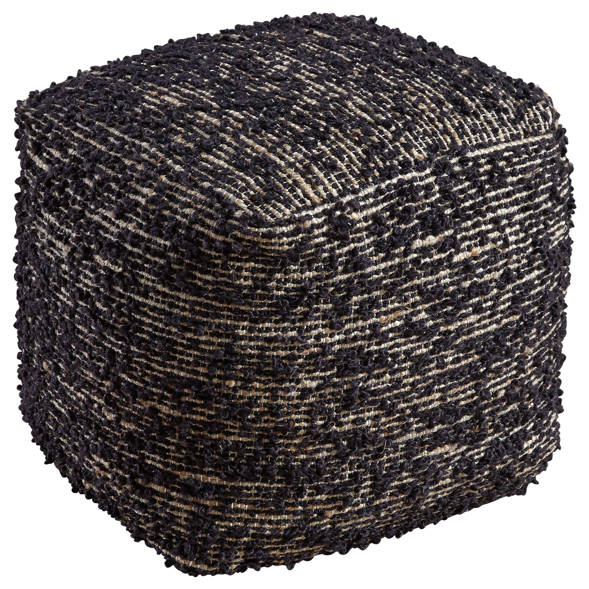 Signature design by ashley poufs darita black pouf wayside furniture poufs - Design pouf ...