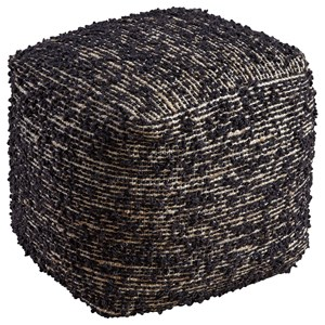 Signature Design by Ashley Poufs Darita - Black Pouf