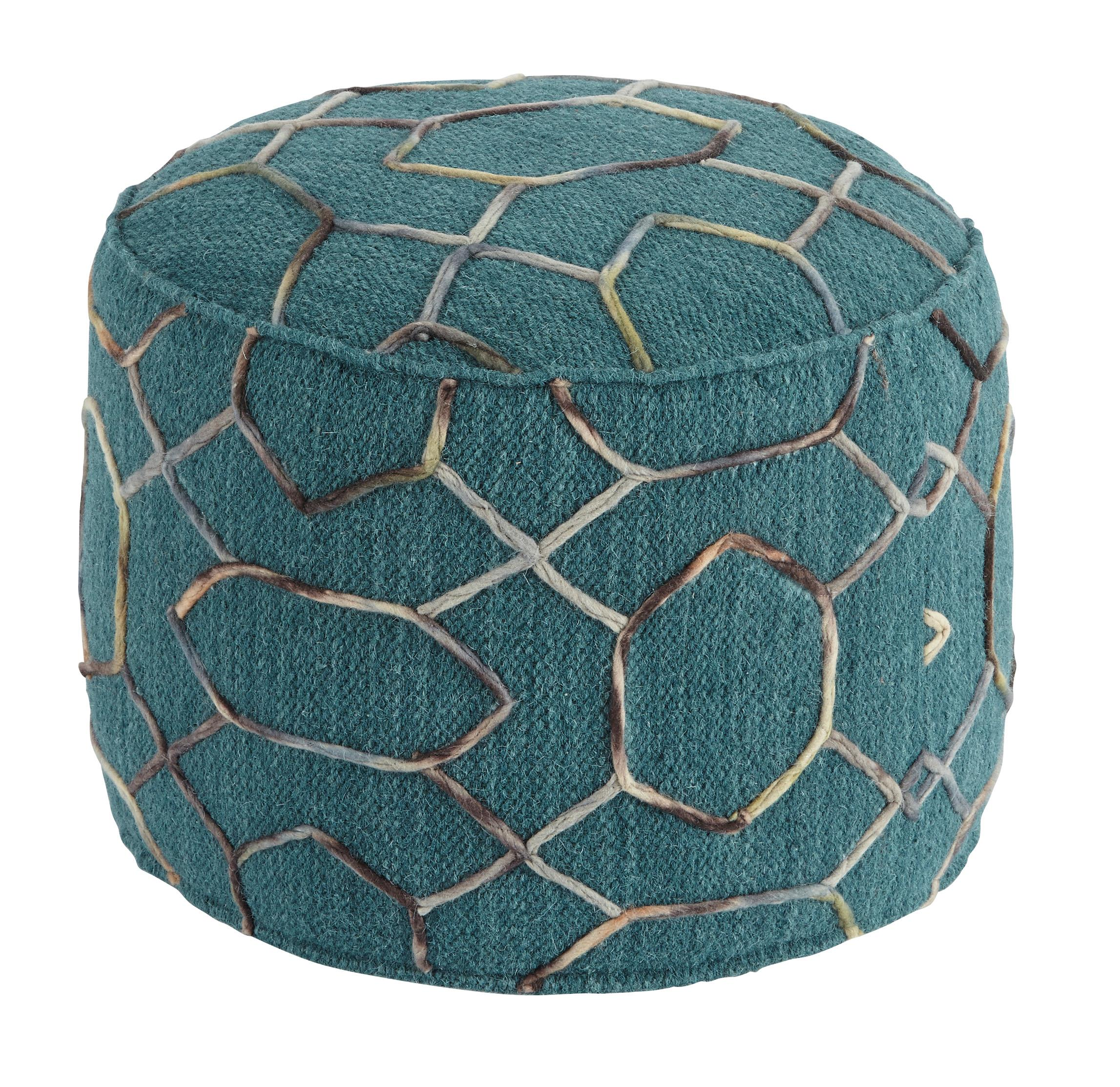 Signature Design by Ashley Poufs Overdyed - Dark Green Pouf - Item Number: A1000434