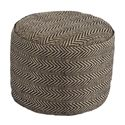 Signature Design by Ashley Poufs Chevron - Natural Pouf - Item Number: A1000438