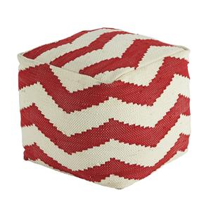 Signature Design by Ashley Poufs Chevron - Red Pouf