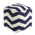 Signature Design by Ashley Poufs Chevron - Blue Pouf - Item Number: A1000444