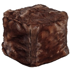 Signature Design by Ashley Poufs Himena - Chocolate Pouf
