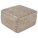 Signature Design by Ashley Poufs Hedy Natural/Ivory Pouf - Item Number: A1000531