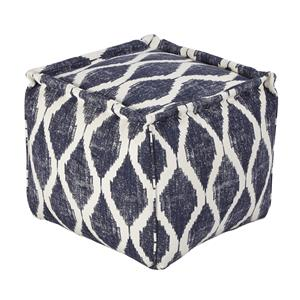 Signature Design by Ashley Poufs Bruce - Ink/White Pouf